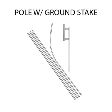 Econo Feather Flag – Pole with Ground Stake