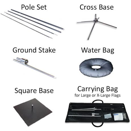 Teardrop Flag – Hardware Options
