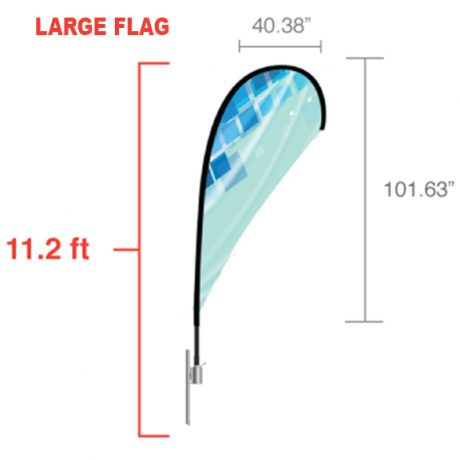 Teardrop – Large Flag Dimensions