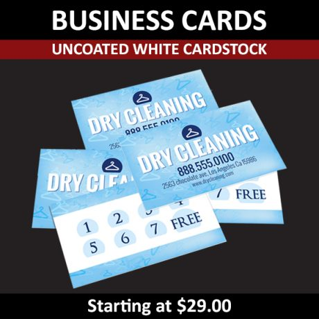 Business Cards – 14pt Uncoated Cardstock