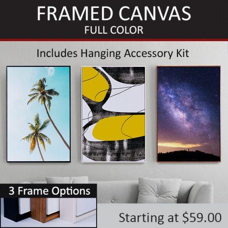 FRAMED CANVAS – Full Color-